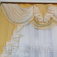 Готовый тюль из шифона для комнаты спальни кухни, шифоновый тюль для дома зала гостинной, тюль на окна в, фото 2