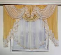 Готовый тюль из шифона для комнаты спальни кухни, шифоновый тюль для дома зала гостинной, тюль на окна в, фото 6