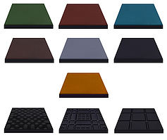 Гумова плитка Eco 50х50х2 см