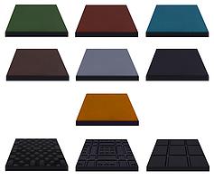 Резиновая плитка Eco 50х50х2 см