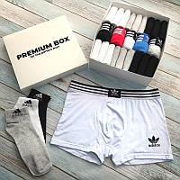 Премиум набор Adidas 5 шт и 18 пар носков Adidas в PREMIUN BOX хлопок
