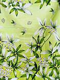 Комплект постільної білизни з поліестеру двоспальний Зелена лілія, фото 2