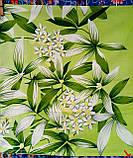 Комплект постільної білизни з поліестеру двоспальний Зелена лілія, фото 3