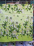 Комплект постільної білизни з поліестеру двоспальний Зелена лілія, фото 4