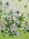 Комплект постільної білизни з поліестеру двоспальний Зелена лілія, фото 5