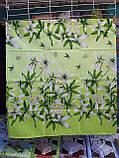 Комплект постільної білизни з поліестеру двоспальний Зелена лілія, фото 6