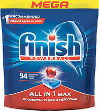Finish Таблетки для посудомоечных машин All in 1 MAX 94шт