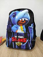Детский рюкзак для дошкольника с акулой 35*25*11 см, фото 1