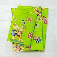 Детское постельное белье Вилюта для новорожденных ранфорс 4457 зеленый