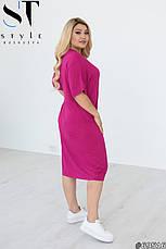 Платье женское повседневное трикотажное размеры:44-54, фото 3