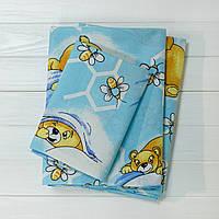 Детское постельное белье Вилюта для новорожденных ранфорс 7823 голубое