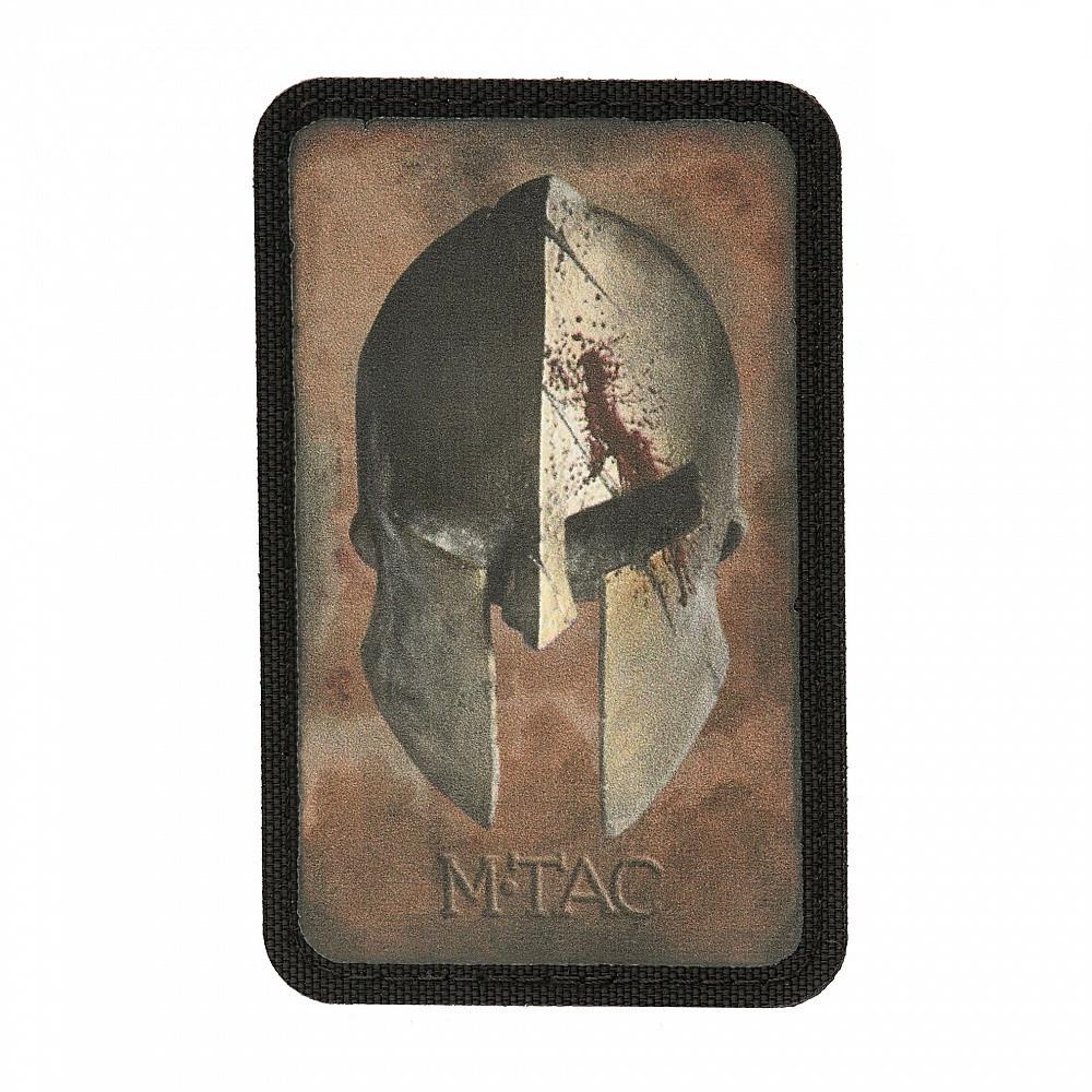 M-Tac нашивка Spartan Helmet Coyote/Black