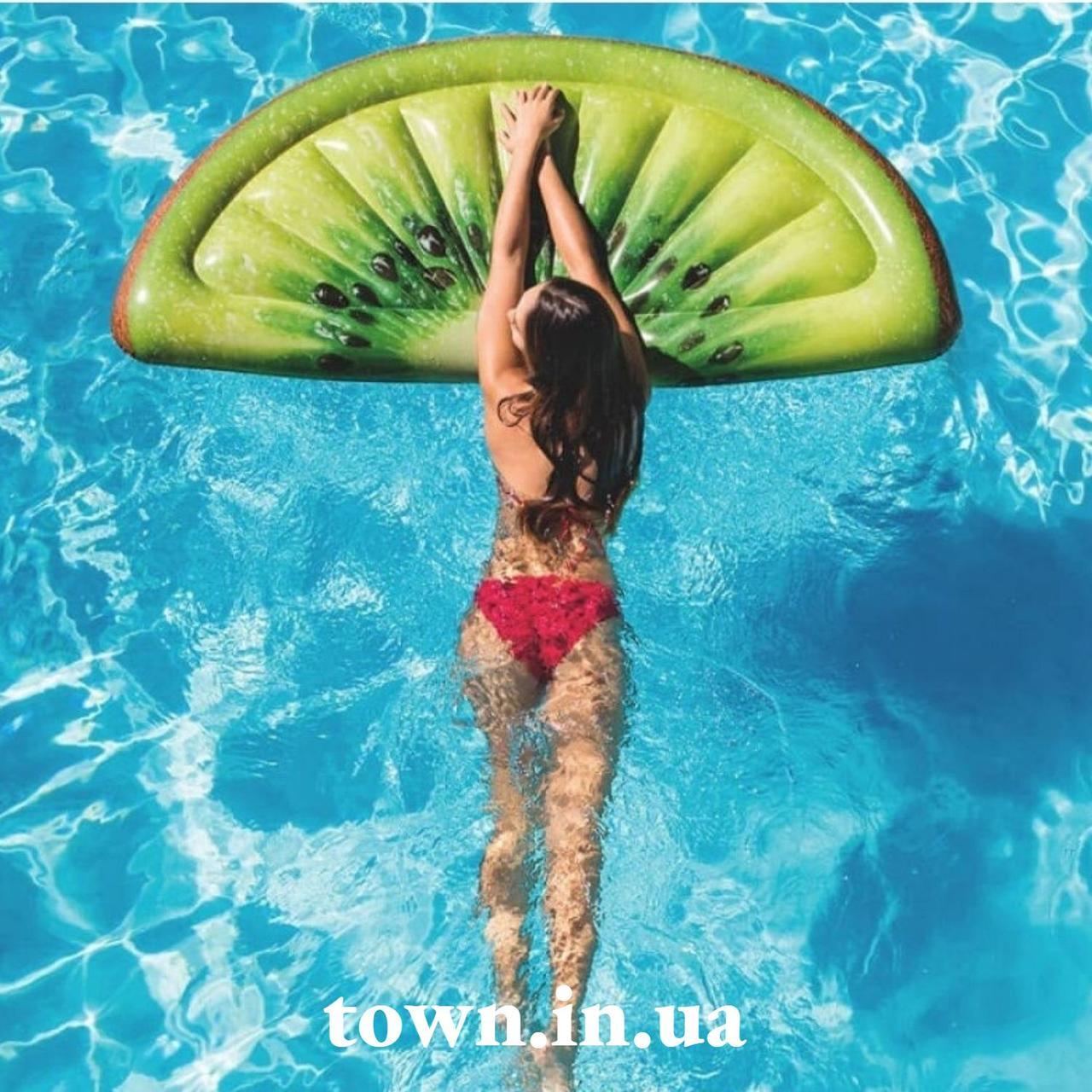 Пляжный надувной матрас intex ДОЛЬКА КИВИ 178x85 см для бассейна и плавания 58764
