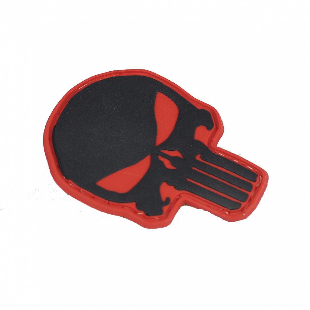 M-Tac нашивка Punisher PVC Red/Black