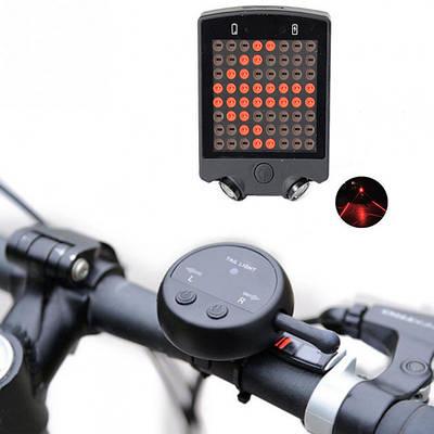 Задний велосипедный фонарь с автоматическим указателем поворотов  и лазерной разметкой AQY-0100