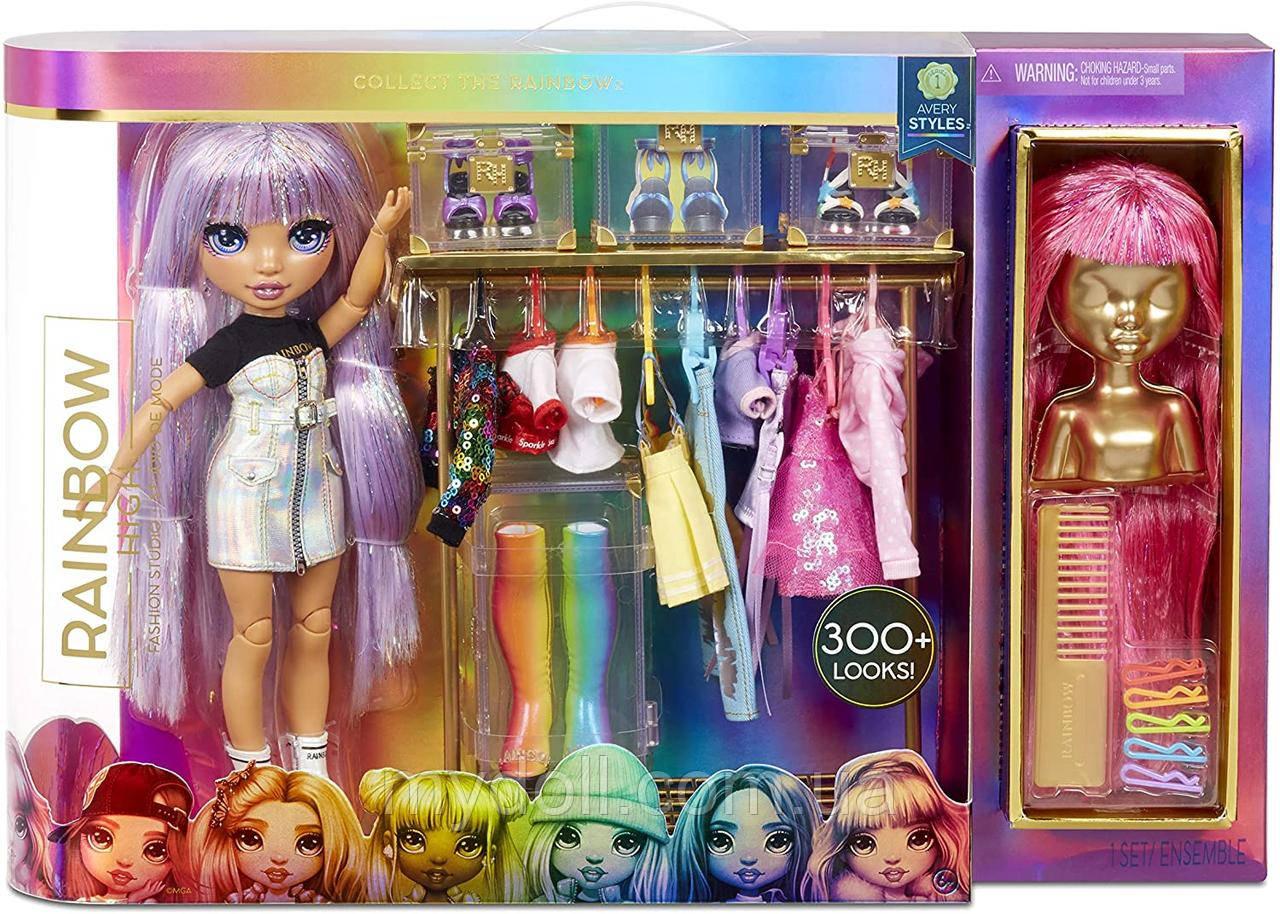 УЦЕНКА! Игровой набор Rainbow High Fashion Studio Avery Styles Рейнбоу Хай Модная студия Эйвери Стайлс 571049