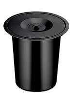 Відро для сміття 270 мм, вбудоване в стільницю, урізне (чорне)