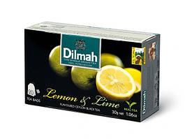 Чай черный пакетированный Dilmah Лимон и лайм 1.5 г х 20 шт