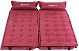 Самонадувающийся коврик KingCamp Base Camp XL(KM3559) (wine red), фото 2