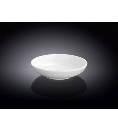 Ємність для соусу Wilmax d10 см фарфор, Порцеляновий біла кругла соусник для подачі і зберігання соусів