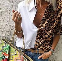 Стильная женская  рубашка  с леопардовым принтом