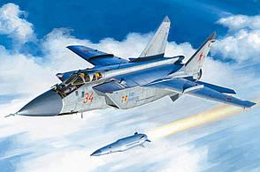 МиГ-31БМ. с KH-47M2. Сборная модель самолета в масштабе 1/48. HOBBY BOSS 81770