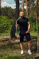 Костюм летний спортивный WOW Charged Cotton Мужской хлопковый футболка шорты (Размер S) Черный