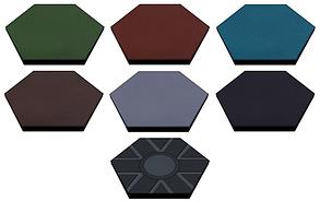 Резиновая плитка Eco шестиугольная 47х47х2 см