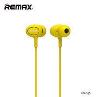 Гарнитура Remax Earphone RM-515 Yellow, фото 1