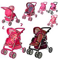 Детская коляска для кукол с регулируемой ручкой, прогулочные кукольные коляски Melogo 9352