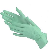Нитриловые перчатки нестерильные неопудренные текстурированные 100 шт/уп. зеленая мята размер L