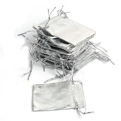 Мішечок 10х12см подарунковий Сріблястий