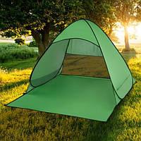 Пляжная палатка с дверью и защитой от ультрафиолета Stripe -  размер 150/165/110 - зеленая