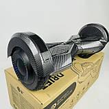 Гироборд гироскутер сігвей Smart Balance 8 дюймів Синій космос з підсвічуванням автобалансом і сумкою, фото 3