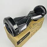 Гироборд гироскутер сігвей Smart Balance 8 дюймів Синій космос з підсвічуванням автобалансом і сумкою, фото 8