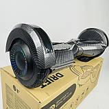 Гироборд гироскутер сігвей Smart Balance 8 дюймів Синій космос з підсвічуванням автобалансом і сумкою, фото 10