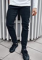 Мужские модные джинсы слим хорошего качества, повседневные, черные