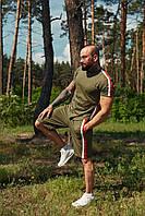 Костюм летний спортивный WOW Charged Cotton Мужской хлопковый футболка шорты Хаки (Размер S)