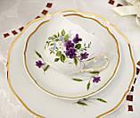Німецька чайна трійка, порцелянова чашка, блюдце й десертна тарілка, Triptis Porzellan, Німеччина, фото 4