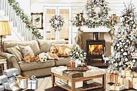 Набор для вышивания нитками LUCA-S Мечтая о белом Рождестве (B2393)