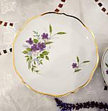 Німецька чайна трійка, порцелянова чашка, блюдце й десертна тарілка, Triptis Porzellan, Німеччина, фото 5
