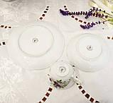 Німецька чайна трійка, порцелянова чашка, блюдце й десертна тарілка, Triptis Porzellan, Німеччина, фото 8