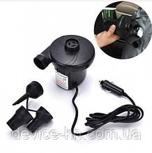 Насос автомобильный компрессор для матрасов Air Pomp 207 12V Черный