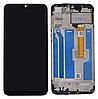Дисплей (екран) для Oppo A5s/A7/A12; Realme 3 + тачскрін, чорний, з жовтим шлейфом, з передньою панеллю