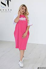 Женское платье повседневное трикотажное свободное размеры: 50-60, фото 2