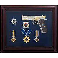 Подарунок сувенірний Пістолет Форт з нагородами, фото 1