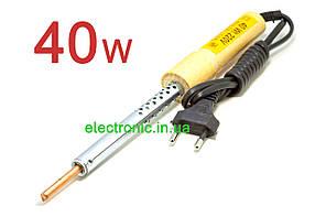 Паяльник (Запорожье), 40 Вт, 220 вольт,ручка деревянная,медное жало ф5,5 мм.