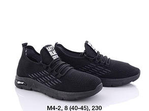 Мужские кроссовки летние сетка размер 40-45 черные