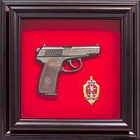 Подарок сувенирный Пистолет Макарова и эмблема БКОЗ СБУ, фото 1