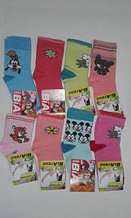 Шкарпетки дитячі для дівчаток бавовна стрейч Україна розмір 14. Від 12 пар по 8.5грн.